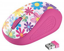 Фото Trust Primo Wireless Pink Flowers USB (21481)