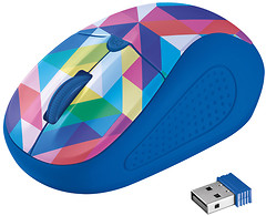 Фото Trust Primo Wireless Geometry Blue USB (21480)