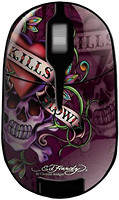 Ed Hardy Wireless Mouse Love Kills Slowly Black USB