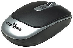 Manhattan Wireless Laser Mouse MLXL Black-Silver USB (177474)