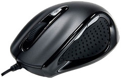 Revoltec Wired Mini Mouse W104 Black USB