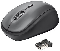 Фото Trust Yvi Wireless Mini Mouse Grey USB (18519)