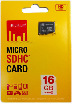Фото Strontium microSDHC Class 10 16Gb