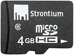Фото Strontium microSDHC Class 6 4Gb