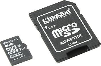 Фото Kingston microSDHC UHS-I U1 45MB/s 16Gb