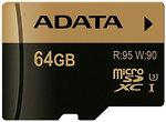 Фото ADATA XPG microSDXC Class 10 UHS-I U3 64Gb