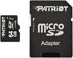 Фото Patriot LX microSDXC Class 10 UHS-I 40MB/s 64Gb