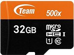 Фото Team Group microSDHC Class 10 UHS-I 500x 32Gb