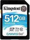 Фото Kingston Canvas Go! SDXC Class 10 UHS-I U3 V30 512Gb