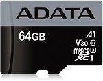 Фото ADATA Premier Pro microSDXC Class 10 UHS-I U3 V30S A1 64Gb