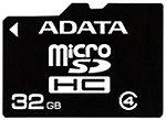 Фото ADATA microSDHC Class 4 32Gb