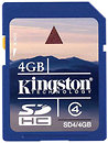 Фото Kingston SDHC Class 4 8Gb