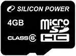 Фото Silicon Power microSDHC Class 10 4Gb