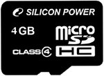 Фото Silicon Power microSDHC Class 4 4Gb