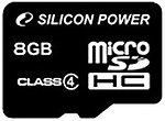 Фото Silicon Power microSDHC Class 4 8Gb