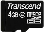Фото Transcend microSDHC Class 4 4Gb