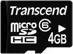 Фото Transcend microSDHC Class 6 4Gb
