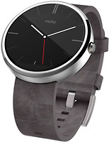 Motorola Moto 360 Leather Silver
