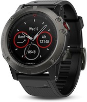 Фото Garmin Fenix 5X Slate Gray Sapphire with Black Band