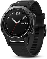 Фото Garmin Fenix 5 Black Sapphire with Black Band