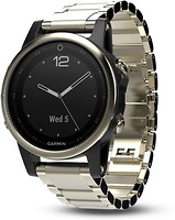 Фото Garmin Fenix 5S Champagne Sapphire with Metal Band