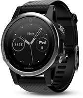 Фото Garmin Fenix 5S Silver with Black Band