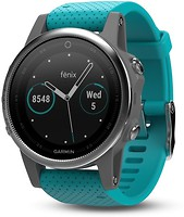 Фото Garmin Fenix 5S Silver with Turquoise Band