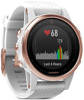 Фото Garmin Fenix 5S Rose Gold with White Band