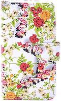 Florence Чехол-книжка универсальная 4.3 2M Small Red Flowers (камера в центре) (FLUN432MSMREDFL)
