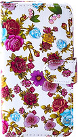 Florence Чехол-книжка универсальная 5.5 5XXL White+Rose (камера в центре) (FLUN555XXLWHRS)