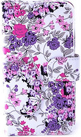 Florence Чехол-книжка универсальная 4.5-4.7 3L Small Purple Flowers (камера в центре) (FLUN45473LSMPRPLFL)