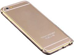 Cross-Line Aluminum Bumper for iPhone 6 Gold