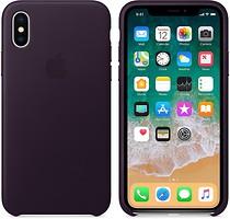Фото Apple iPhone X Leather Case Dark Aubergine (MQTG2)