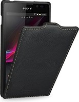 Фото Tetded Premium Leather Case for Sony Xperia C Black (SYS39HTSBK)