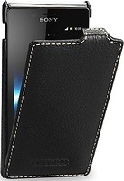 Фото Tetded Premium Leather Case for Sony Xperia J Black (SYST26iTSBK)