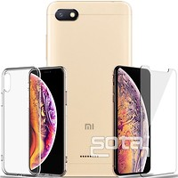 Фото iPaky Soft TPU+Glass Case Xiaomi Redmi 6A Transparent