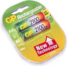 Фото GP Batteries AA 2100mAh NiMh 2 шт (210AAHC)