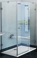 Фото Ravak GlassLine GSDPS-100x100 L Chrome Transparent (0BLAAA00Z1)