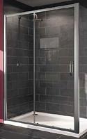 Фото Huppe X1 2-х секционная раздвижная дверь для ниши и боковой стенки 140 (120404)