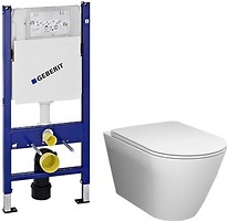 RAK Ceramics Resort Wall Hung Water Closet + Geberit Duofix 458.126.00.1