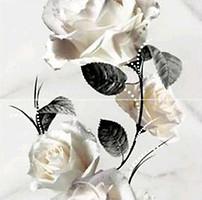 Opoczno декор-панно КАРРАРА (CARRARA) Цветок белый 58.3x59.3