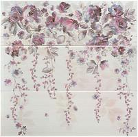 Porcelanite Dos декор-панно 2210 Composicion Cascade III Lila-Turquesa-Marengo 67.5x67.5