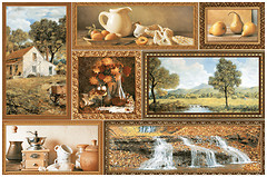 Фото Inter Cerama декор GRANI коричневый 23x35 (74031)