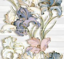 Inter Cerama декор-панно Batik серый 46x50 (комплект 2 шт)