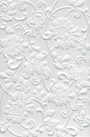 Kerama Marazzi плитка настенная Аджанта Цветы белая 20x30 (8216)