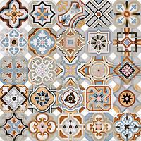 Vives грес (керамогранит) Vodevil Octogono Musichalls Multicolor 20x20