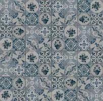 Фото Gres de Aragon плитка напольная Retro Azul 25x25