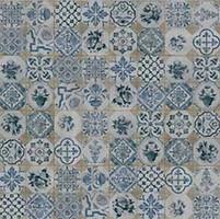 Gres de Aragon плитка напольная Retro Azul-Tierra 25x25