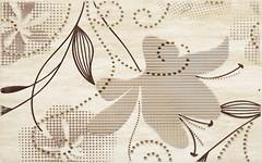 Kwadro декор Doppia Inserto A Beige 25x40