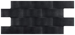 Codicer 95 плитка настенная Pagoda Negro Luxor 24x49